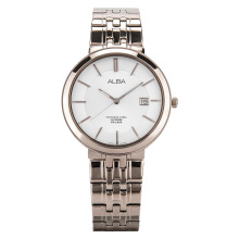 Alba Man White Dial Sapphire Crystal Stainless Steel [AS9D70X1] Rose Gold