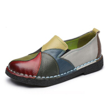 SOCOFY Handmade Casual Genuine Leather Soft Women's Flats