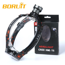 Boruit XM-L T6 LED 3xAA Zoomable Headlamp grey Headlight Head Light Torch Flashlight Camping Fishing Cycling Rock Climbing