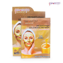 Masker Qiansoto Modeling Mask 24 K Gold Collagen 6 sachet Net (6 x 35 ml)