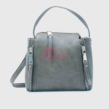 NEW COLLECTION Small hand tote with side zippers - Light grey