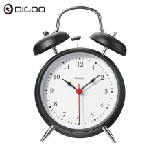 JDWonderfulHouse Digoo DG-TBK 4 Inches Twin Bell Clock Series Retro Metal Style Twin Bell Clock Bedroom Decoration