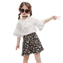 BESSKY 2pcs Toddler Baby Kids Girls Floral Clothes Set Tops+Shorts Outfits_