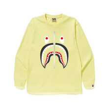 Bape Shark L/S Tee Yellow Size S