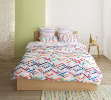 ESPRIT Quilt Cover Super King- Jumble Grid / 260x230cm