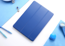 Ins AP-105 Super Thin Silicone All inclusive edge Apple Ipad Pro10.5 protective cover-Navy Blue