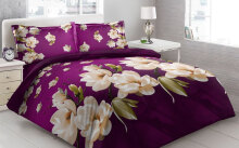 Sprei Bantal 4 Vito Disperse 180x200cm Jasmine Flower - Purple