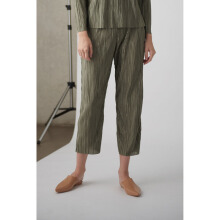 Shop At Velvet Stale Pleated Trousers  - Green [All Size]