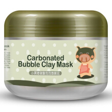 BIOAQUA Deep Pore Cleansing Clay Mask Carbonated Bubble Mud Sleep Water Wash Mask Anti-Acne Moisturizing Face Mask Green