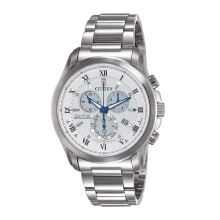 CITIZEN Eco Drive Watch - Silver Strap/White Dial 43mm Gents [BL5540-53A]