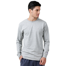 CHAMPION Classic Jersey Long Sleeve Tee - Oxford Grey