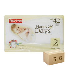 FISHER PRICE Popok Happy Days - Karton Isi 6 [Size 2 - 42]