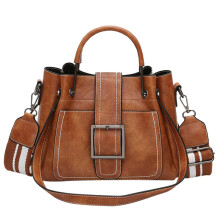 BESSKY Retro Women's Leather Shoulder Bags With Corssbody Bag&Handbag _