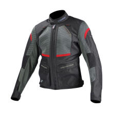 KOMINE JK-102 3D Protect Jaket Touring Pria - Black Red
