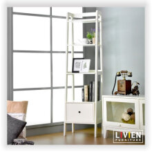 LIVIEN Furniture Rak Buku Susun - Alody Series - White