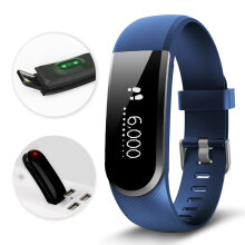 Vfocs ID101U HR Smart Wristband Heart Rate Monitor Bracelet Fitness Tracker Black