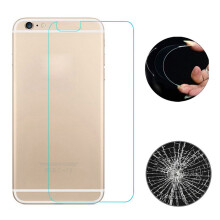 BESSKY Explosion-proof 9H Tempered Glass Film Back Protector for iPhone 6S Plus 5.5Inch_ Transparent and Black