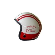 IGLOO Classic Helm Half Face - White Red
