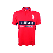 POLO RALPH LAUREN - Custom-Fit Lacoste Polo Shirt Red-White-Navy Men