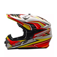 CARGLOSS MXC Supertrack Red Helm Motocross - Yellow SP.Whity White