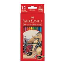 FABER-CASTELL Classic colour pencils 12 L 115852