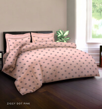 KING RABBIT Bedcover Double Motif Ziggy Dot-Pink/ 140x 230cm Pink