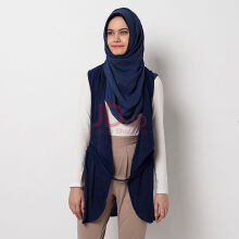 Hazelnut Armand Vest Navy Blue One Size