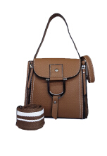 Catriona By Cocolyn Erin top handle bag - COFFEE