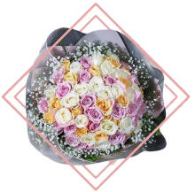 Hand Bouquet Rose Pink M