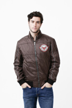 INVENTZO Alpha Urbano Series Razon Alpha Jaket Motor Pria - Brown