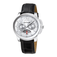 Moment Watch Guy Laroche G3014-02 Jam Tangan Pria - Leather Strap - Hitam Black