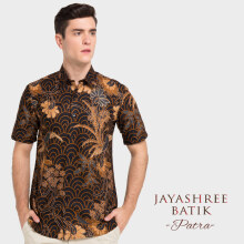 JAYASHREE BATIK Slim Fit Short Sleeve Patra - Black