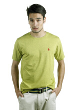 POLO RALPH LAUREN - Custom-Fit T-Shirt Single Jersey Yellow Top Dye Men