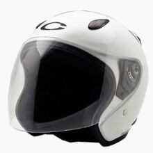 Cargloss YCN Helm Half Face - White Met 6