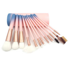 Giselle Alessa Kuas Makeup Set Brush Make up 12 in 1 dengan Pouch Baby Pink