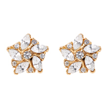 1901 JEWELRY Anting Zircon Flower 771
