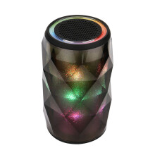 BESSKY LED Bluetooth Speaker Hi-Fi Portable Wireless Stereo Speaker Color Changing Night light_ Black
