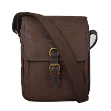 Troop London Classic Canvas Across Body Bag Q1045 Brown