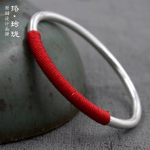 Luo Ling Long Silver ethnic style Chinese red bracelet