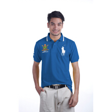 POLO RALPH LAUREN - Custom-Fit Polo Shirt Lacoste Pasific Royal Blue Men