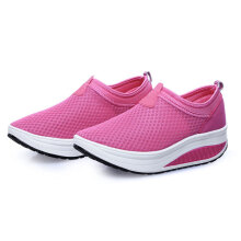 Mesh Shoes Women Breathable Athletic Casual Rocker Sole Shoes