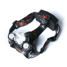 BORUIT 8000Lm 3X XM-L T6+2R5 LED Headlamp Head Light Torch USB Lamp 2X 18650+ AC Charger Camping Fishing Cycling