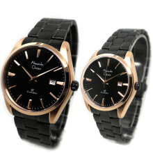 Alexandre Christie Stainless Steel Chain Ladies  AC8515LM-600D32HTRG Analog Date Hitam Rosegold Black