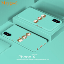 Maygool 360 Degree Phone Cases For iphone X Cartoon Covers