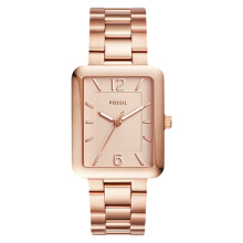 Fossil Ladies Atwater Three-Hand Date Rose Gold Dial Stainless Steel Strap [ES4156]