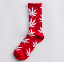 Cool My style CS-31 California skate city Maple leaf socks(about 19cm)-Red