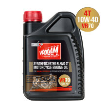 Vrooam Vr70 - 4T Motorcycle Engine Oil 10W40 1L Hitam