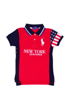 POLO RALPH LAUREN - Cotton Lacoste Polo Shirt Red-Navy