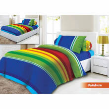 Sprei 3D Vito Disperse Single Rainbow - Blue