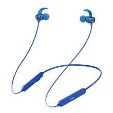 OAC Bluetooth Headphones with Microphone Remote Stereo Earbuds in-Ear Hook Wireless Headset Earphones For iPhone Samsung Phones Blue